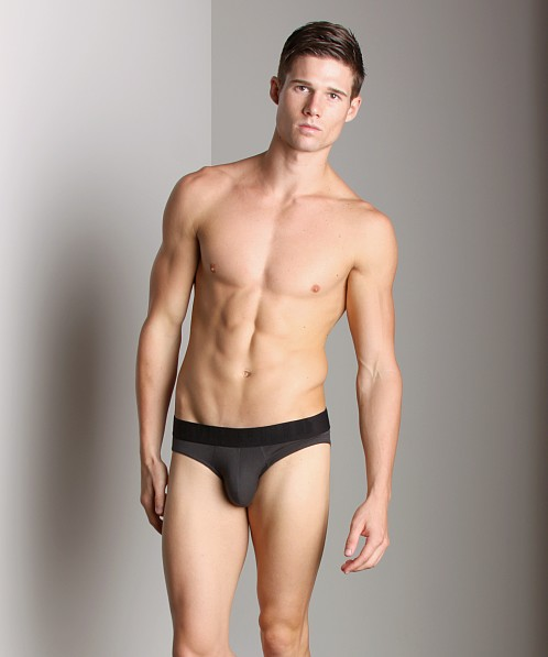 Emporio Armani Eagle Stretch Cotton Hip Brief Grey