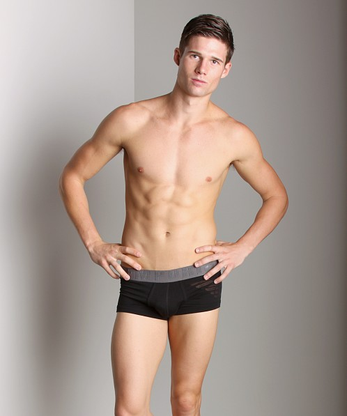 Emporio Armani Eagle Stretch Cotton Trunk Black
