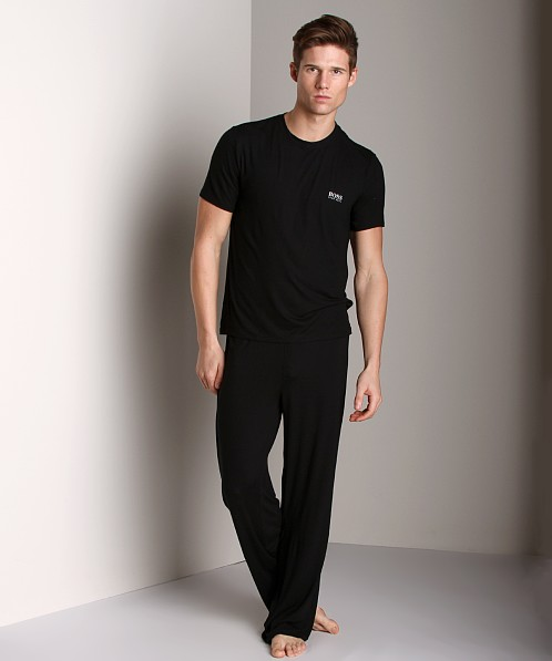 Hugo Boss Modal Crew Neck Shirt Black