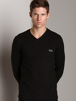 Hugo Boss Cotton Long Sleeve Shirt Black