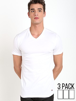 Tommy Hilfiger Cotton Classics V-Neck Shirt 3-Pack White