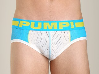 Pump Spring Break Mesh Brief Turquoise/White