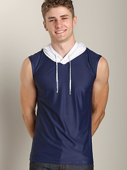 Pump Beach Hooded Tank Navy