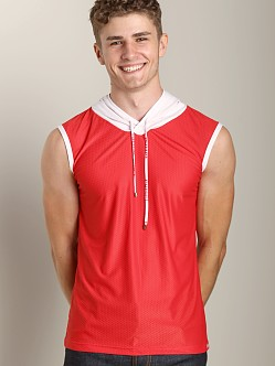 Pump Beach Hooded Tank Red