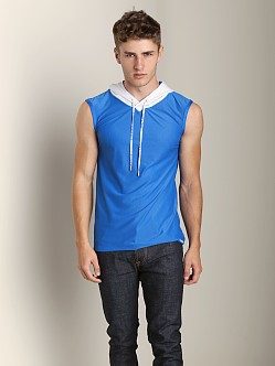 Pump Beach Hooded Mesh Tank Electric Blue