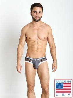 Pistol Pete Metro Mesh Panel Brief Charcoal