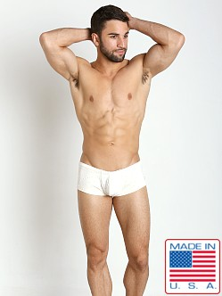 Pistol Pete Iconic Swim Trunk Ivory