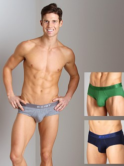 2xist 3-Pack Contour Pouch Briefs Navy/Green/Heather