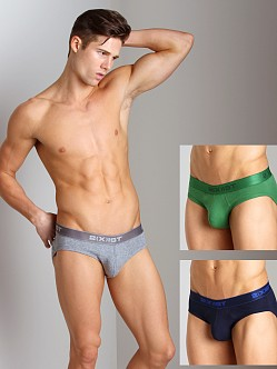 2xist 3-Pack No-Show Briefs Navy/Green/Heather