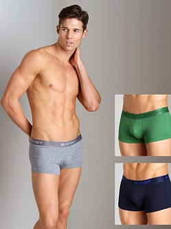 2xist 3-Pack No-Show Trunks Navy/Green/Heather