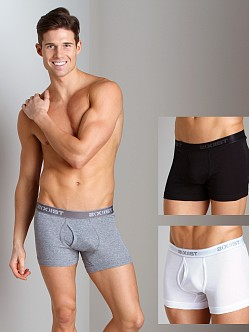 2xist 3-Pack Boxer Briefs White/Black/Heather