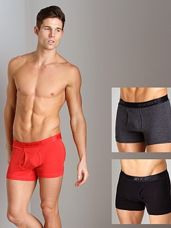 2xist 3-Pack Boxer Briefs Black/Charcoal/Red