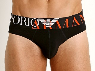 Emporio Armani Mega Logo Brief Black