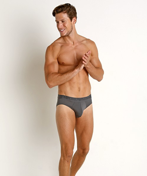 5f3720d76616 Emporio Armani Superfine Pima Cotton Brief Anthracite 110814-8A710-00044 at  International Jock