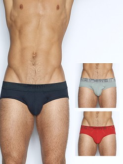 C-IN2 Multipack 3 Lo No Show Profile Briefs Navy/Chain/Alarm