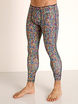 Model in rainbow sequin 2xist Performance Legging