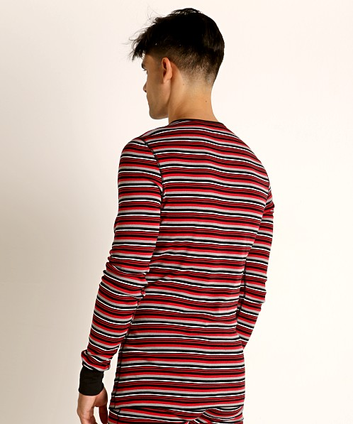 2xist Essential Long Sleeve Henley Varied Stripe