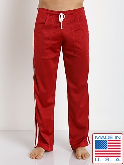 LASC Athletic Mesh Workout Pant Red