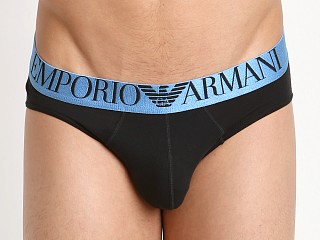 Emporio Armani Shiny Logo Band Brief Black