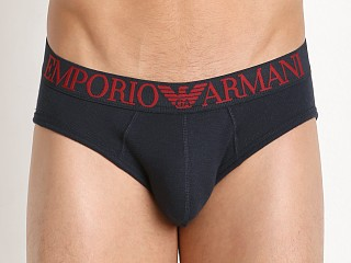 Emporio Armani Cotton Mesh Brief Marine