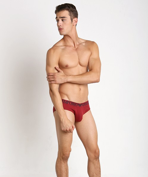 Emporio Armani Cotton Mesh Brief Ribes
