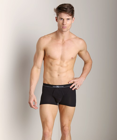 Balls in One Cotton Erector Trunk Black
