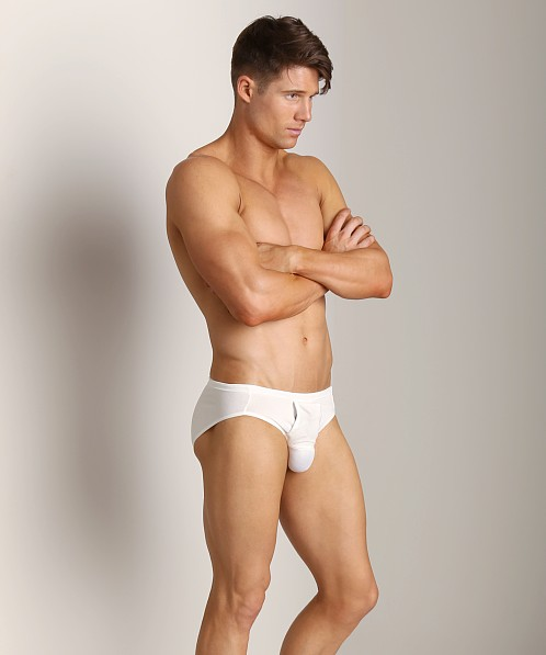 Balls in One Cotton Low Rise Erector Brief White
