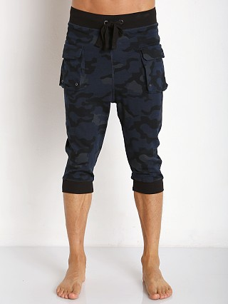 2xist Active Core Cargo Cropped Pant Blue Camo