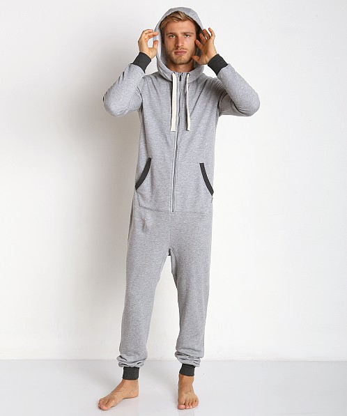 2xist Active Core Terry Flight Suit Grey Heather