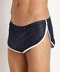 McKillop Side Split Mesh Shorts w/Inner Pouch Navy/White, view 3