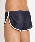McKillop Side Split Mesh Shorts w/Inner Pouch Navy/White, view 4