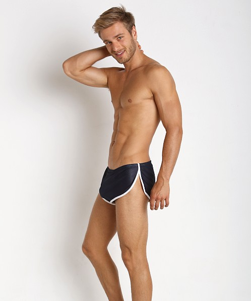 McKillop Side Split Mesh Shorts w/Inner Pouch Navy/White
