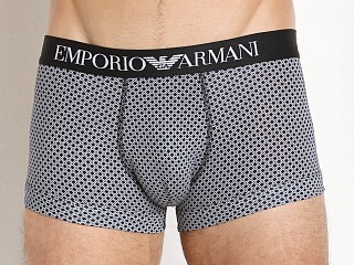 Emporio Armani Pattern Mix Trunk Black Rhombus