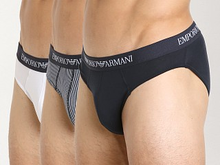 You may also like: Emporio Armani Classic Pure Cotton Brief 3-Pack Marine/Stripe/Wh