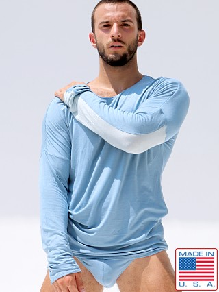 Rufskin Oliver Rayon/Lycra Long Sleeve Tee Blue