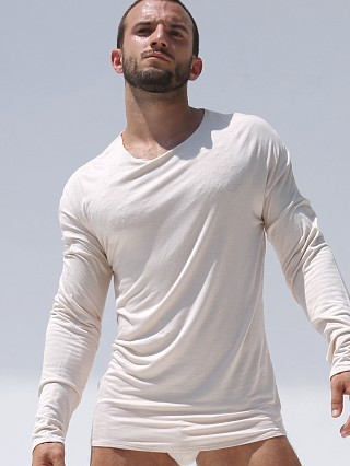 Rufskin Hugo Rayon/Lycra Long Sleeve Tee Tan