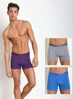 2xist 3-Pack Essential Boxer Briefs Purple/Grey/Blue