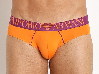 Emporio Armani Fluo Piping Microfiber Brief Mandarin Red