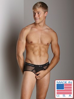 Go Softwear Satin Mesh Boy Brief Black