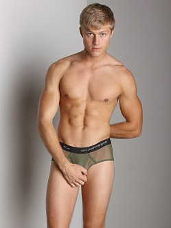 Go Softwear Satin Mesh Boy Brief Olive