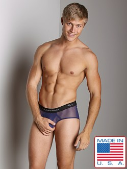 Go Softwear Satin Mesh Boy Brief Navy