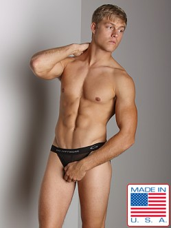 Go Softwear Satin Mesh Jockstrap Black