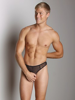Go Softwear Satin Mesh G-String Black