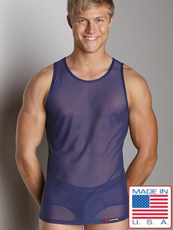 Go Softwear Satin Mesh Tank Top Navy