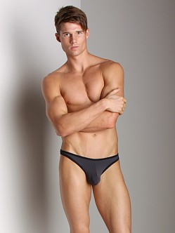 Tulio Slinky Power Pouch Thong Dark Grey/Black