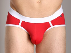 Tulio Enhancing Supplex Bikini Red/White
