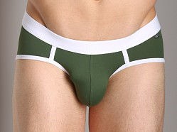 Tulio Enhancing Supplex Bikini Olive/White