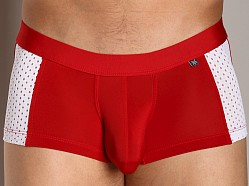 Tulio Slinky Clubber Square Cut Red/White