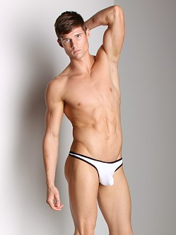 Tulio Slinky Power Pouch Thong White/Black