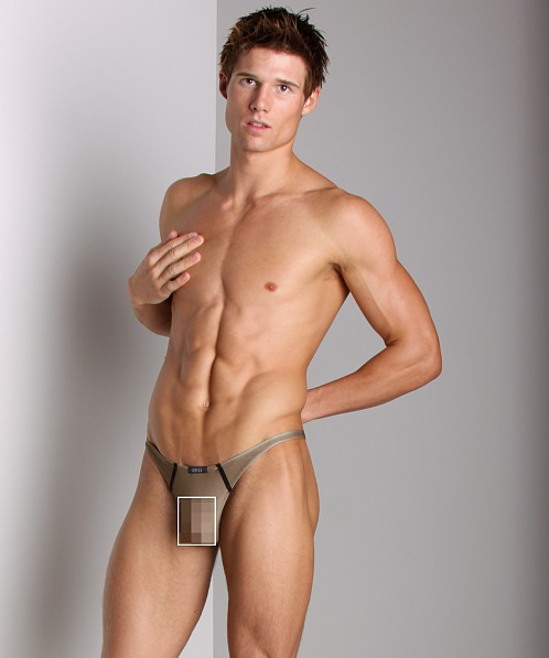 Gregg Homme Commando HyperStretch Thong Taupe